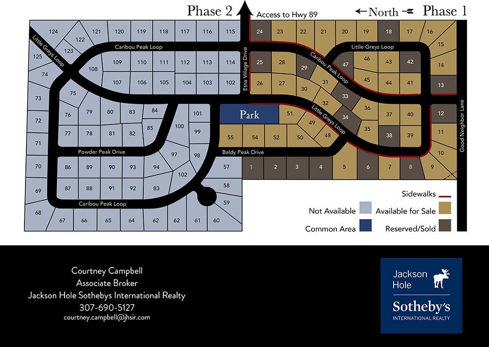 Etna Village Estates Plat Map